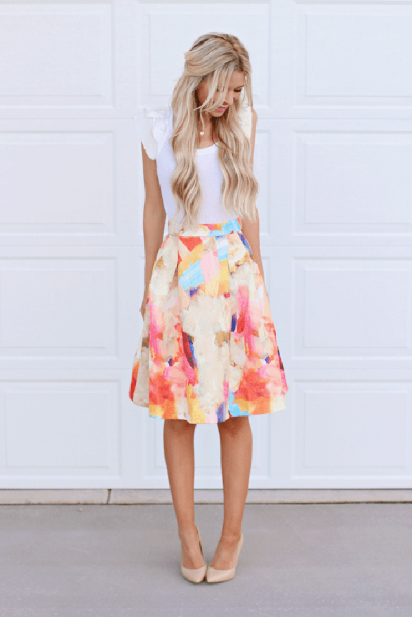 Soft, Floral, Girly-girl Print Dress