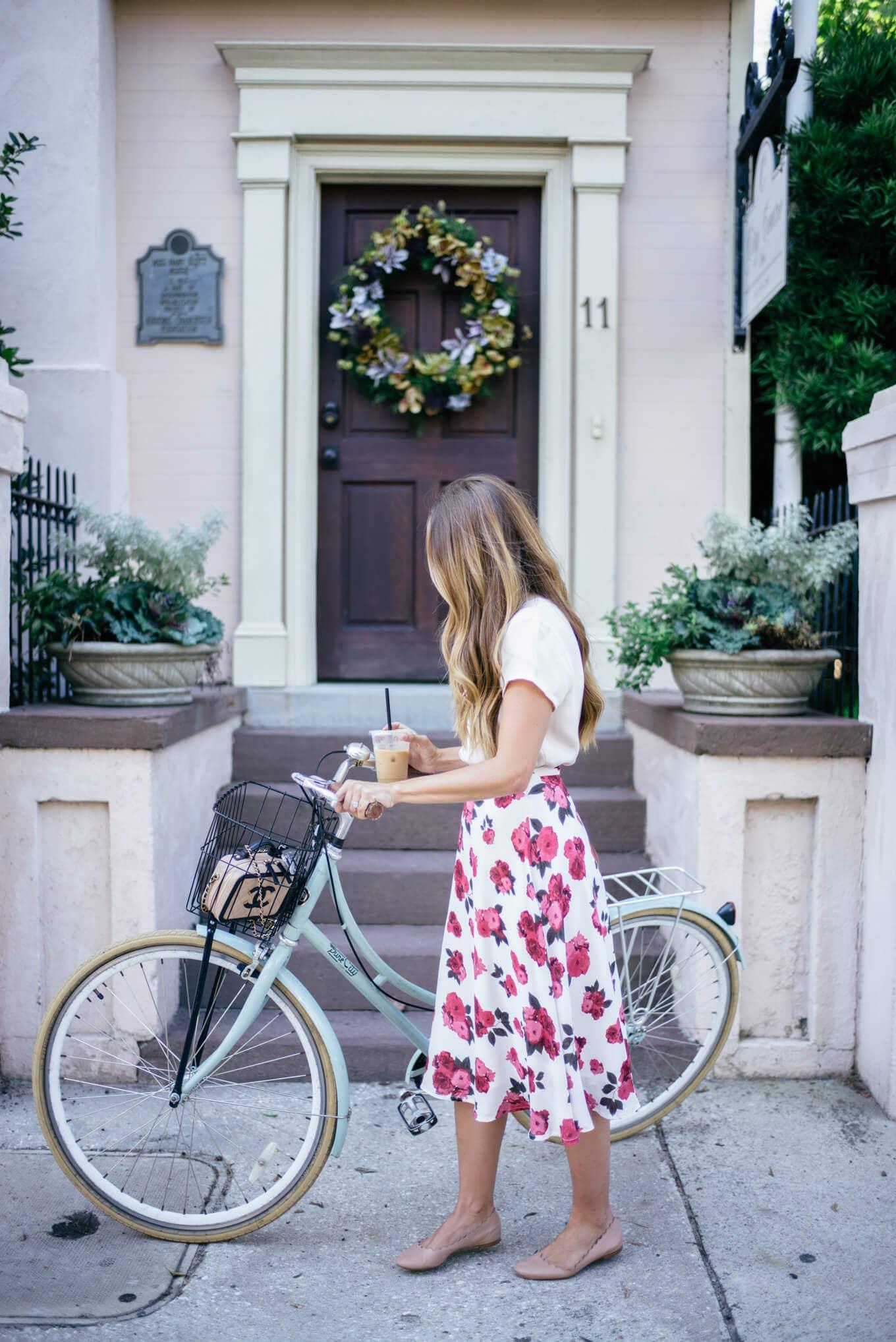 Fun, Floral Midi Skirt