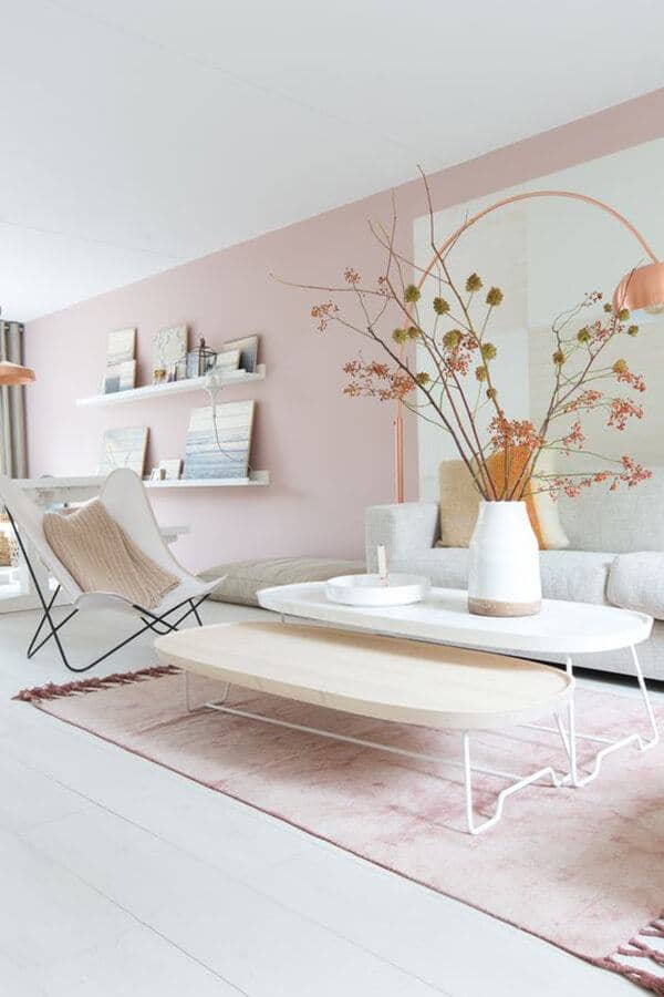 A Powder Pink Rug And Powder Mauve Walls Allow The White Furniture To Have A Voice