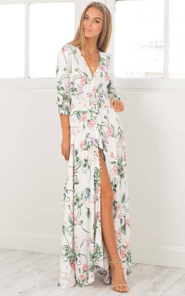 Sexy, Flattering, Slit Maxi Dress