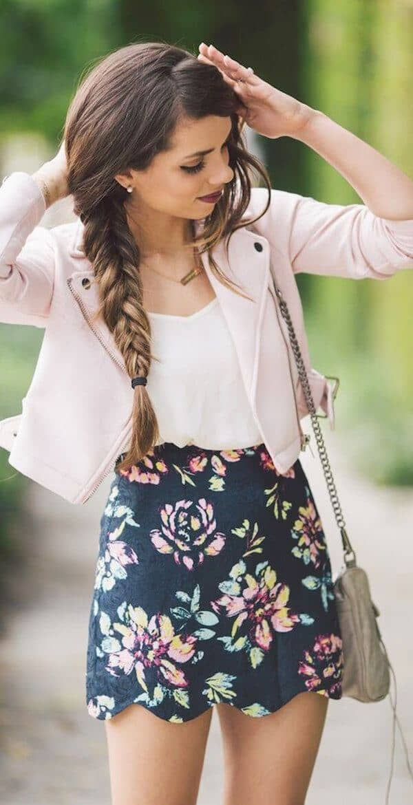 Bold, Floral Mini Skirt