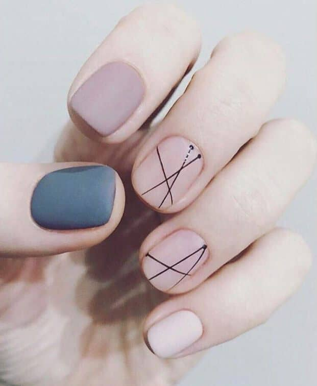 Abstract Art On Your Fingernails