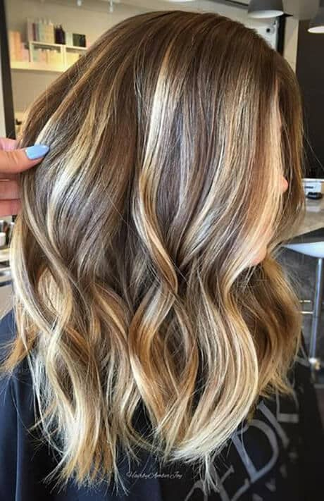 High Mixture Blonde Highlights