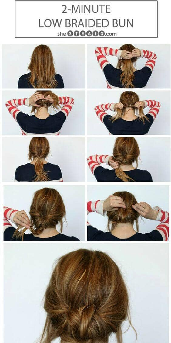 Braid Tail Bun