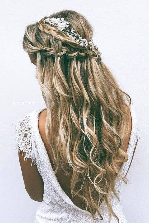 Floral Braided Crown With Waves