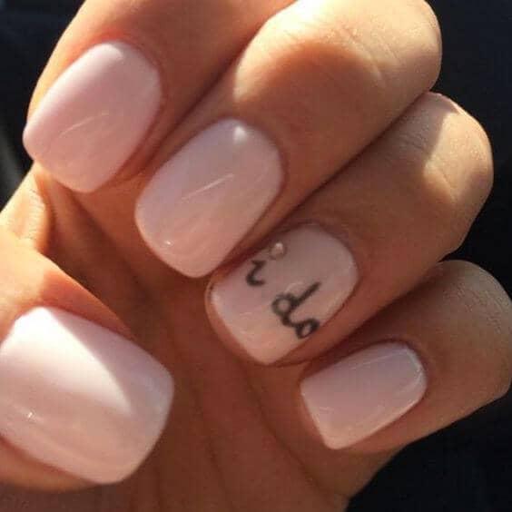 Pastel Nude Wedding Nails