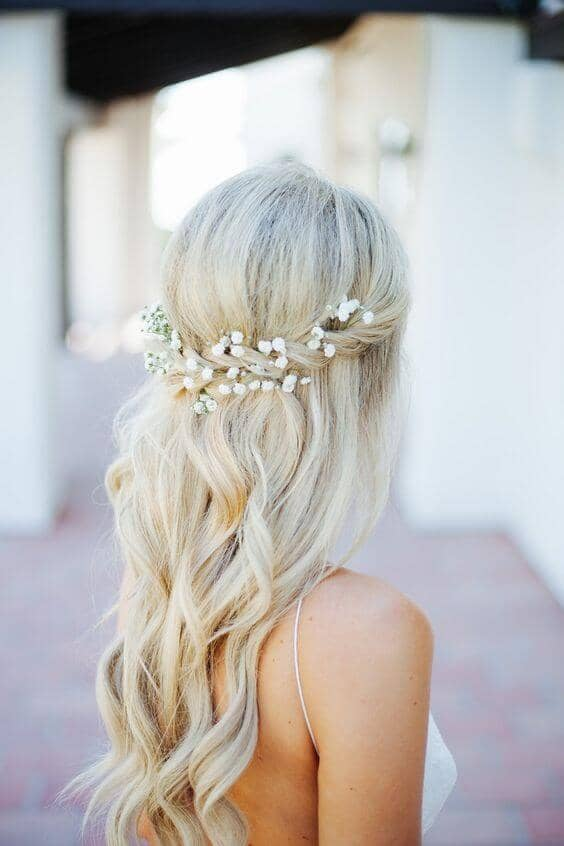 Braided Baby's Breath And Waves