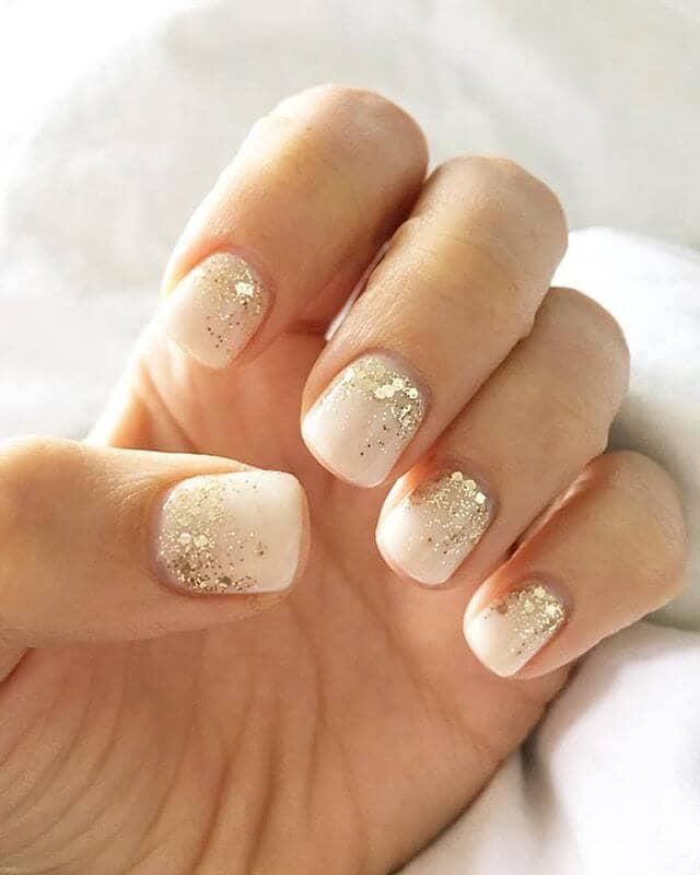 Sparkling Wedding Nails Idea