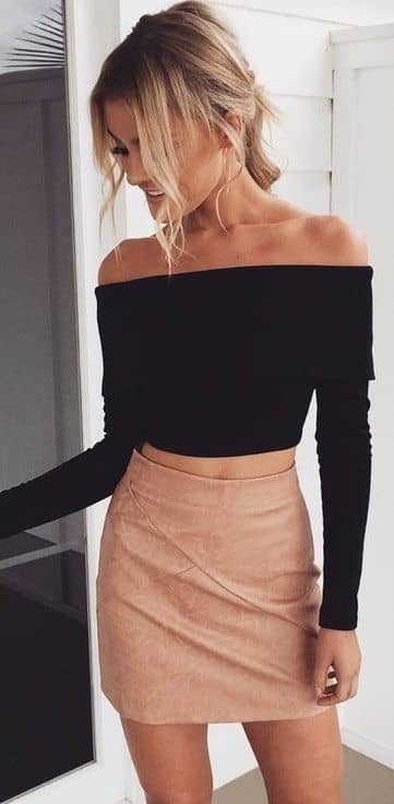 Crop Top Magic With A Shapely Pencil Skirt
