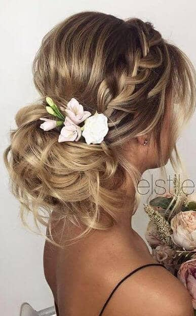Elegant Side Braid And Knot