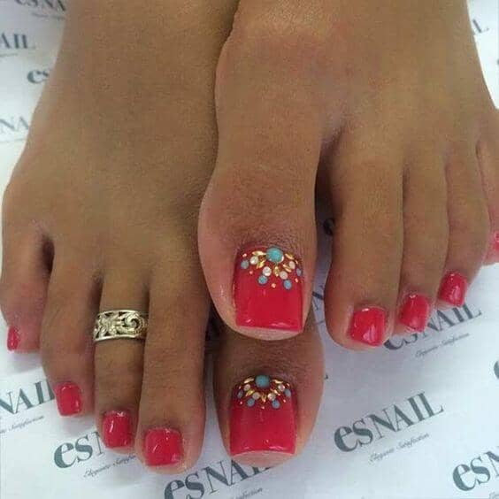 50 Adorable Summer Toe Nail Art Inspirations to Let the Summer Fun Begin - image 10-summer-toe-nails-thelateststyle on https://alldesingideas.com