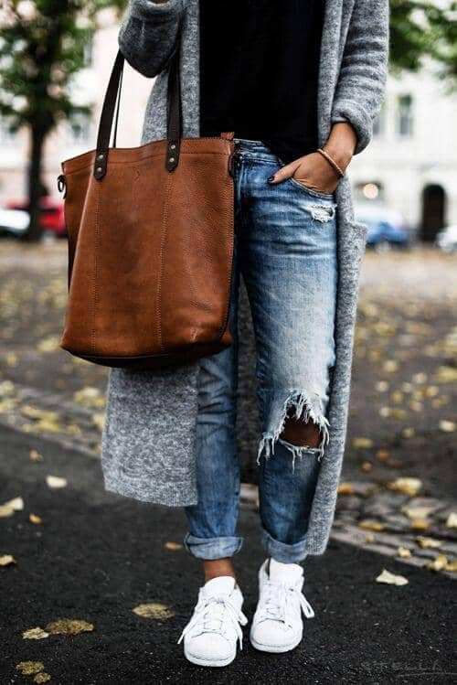Sneakers And Tote