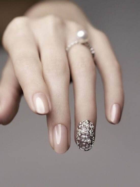Beautiful Bridal Nails Idea