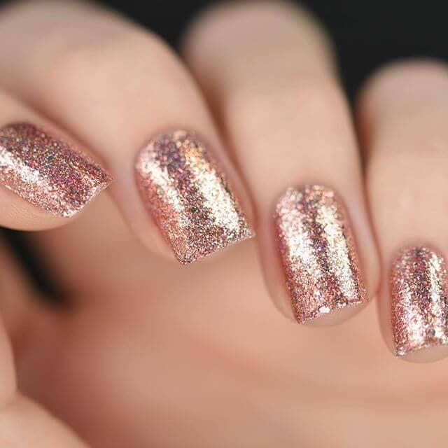 Rose Gold Metal Nail Polish