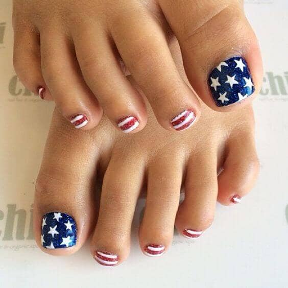 50 Adorable Summer Toe Nail Art Inspirations to Let the Summer Fun Begin - image 18-summer-toe-nails-thelateststyle on https://alldesingideas.com