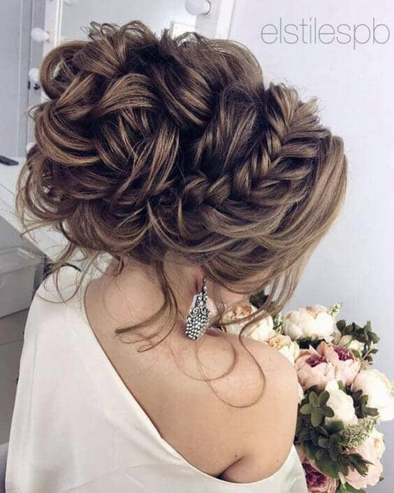 Curls Corralled By Braid Updo