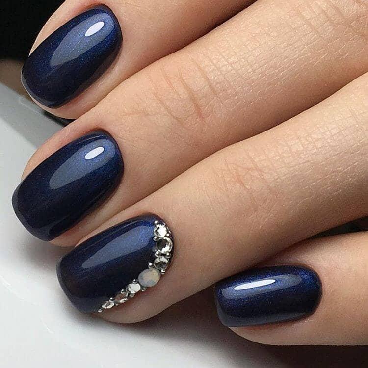 Navy Blue Shiny Polish