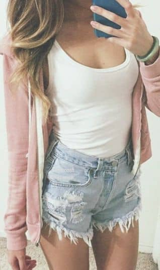 Comfy Chic in Denim Shorts