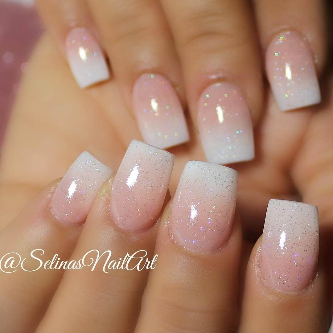 Pink and White Classy Nails