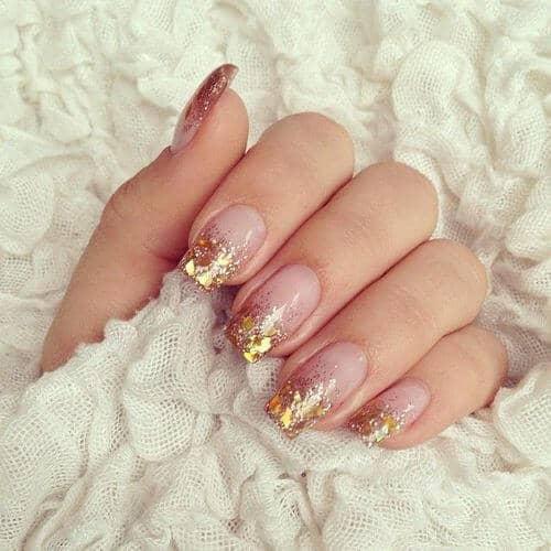 Goldleaf Tips on Natural Nails