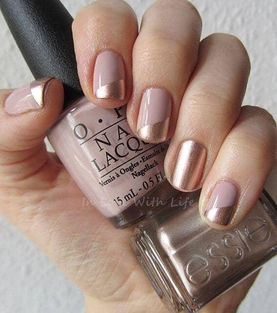 Designer Gold Tips and Blush Pink Cream