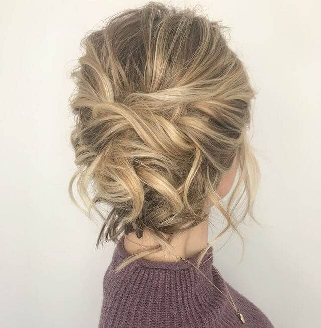 Curly Bun with Messy Hair