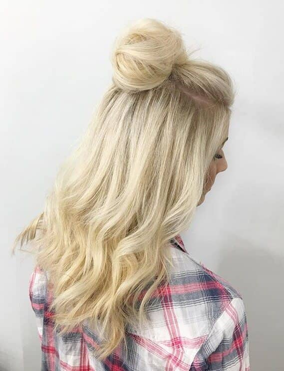 Soft Bun With Loose Waves