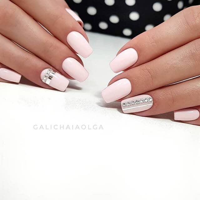 Pretty and Prim Blush Bridal Nails