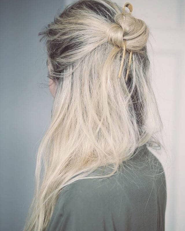 Quick Bun with Hair Sticks