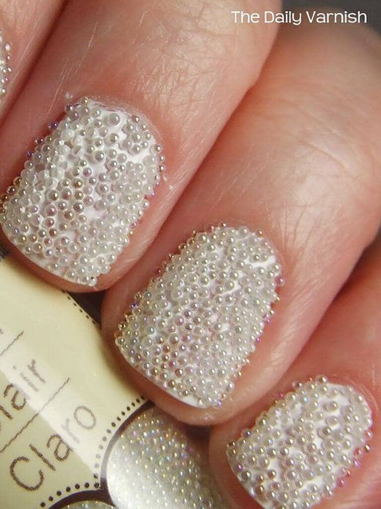 One-of-a-Kind Pearly Nail Designs