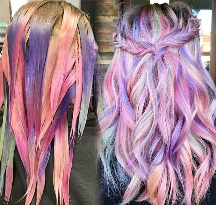 Cotton Candy Blue Hair: 50 Stunningly Styled Unicorn Hair Color Ideas To Stand Out