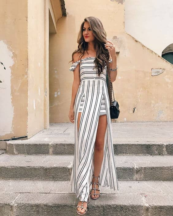 87667416e8f 9) OWN THE RUNWAY WHILE WEARING A STRIPED DRESS