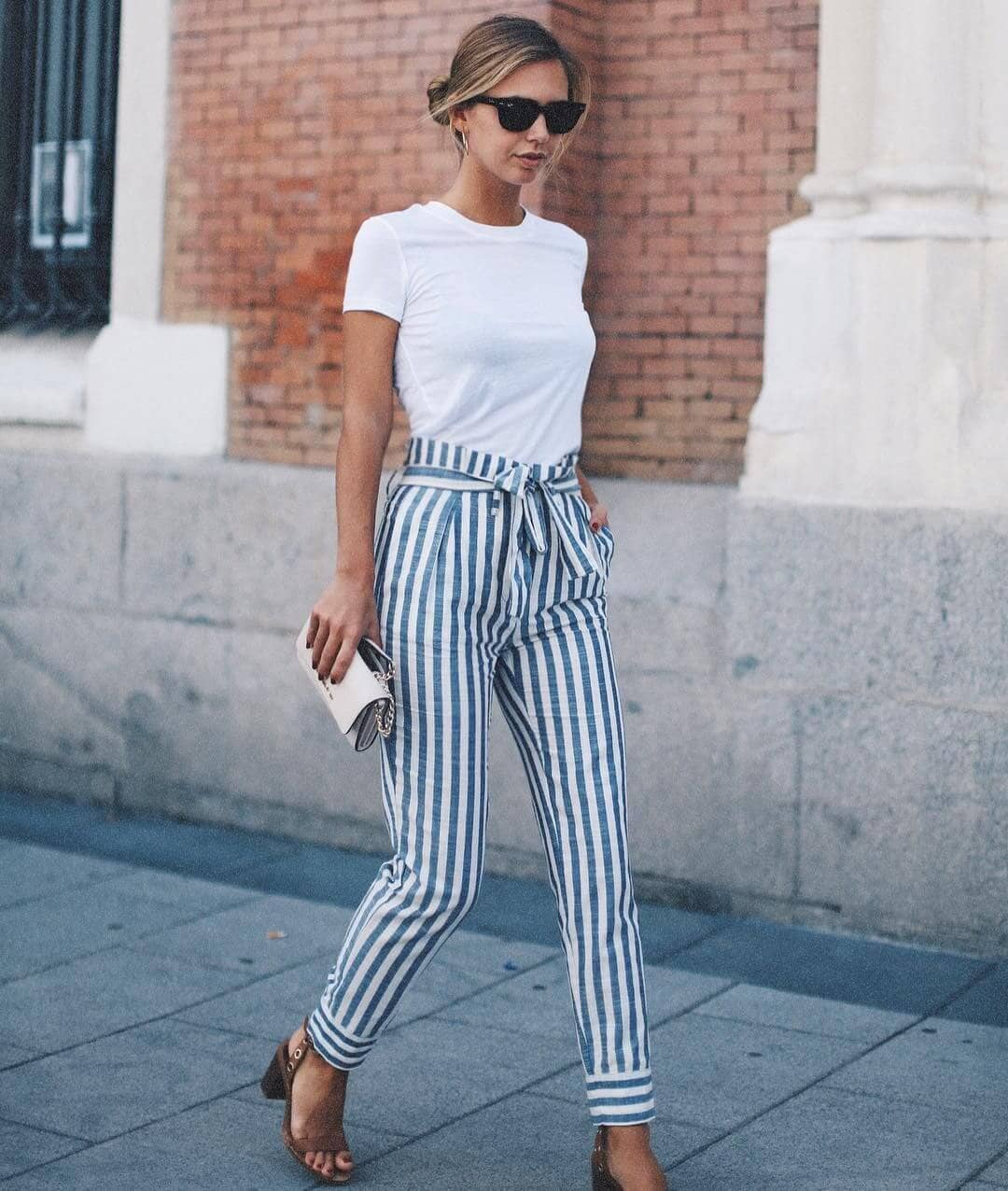 Super smooth sailing in these striped pants