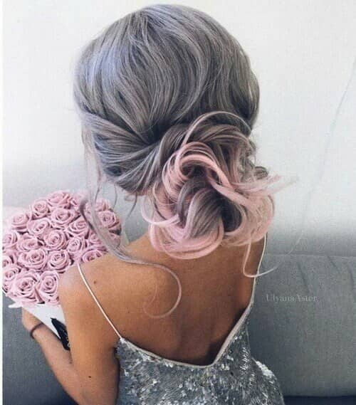 Silver Gray with Pink Accents