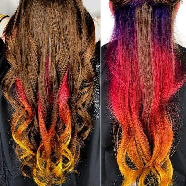 Hidden Flame Hair with Long Curls