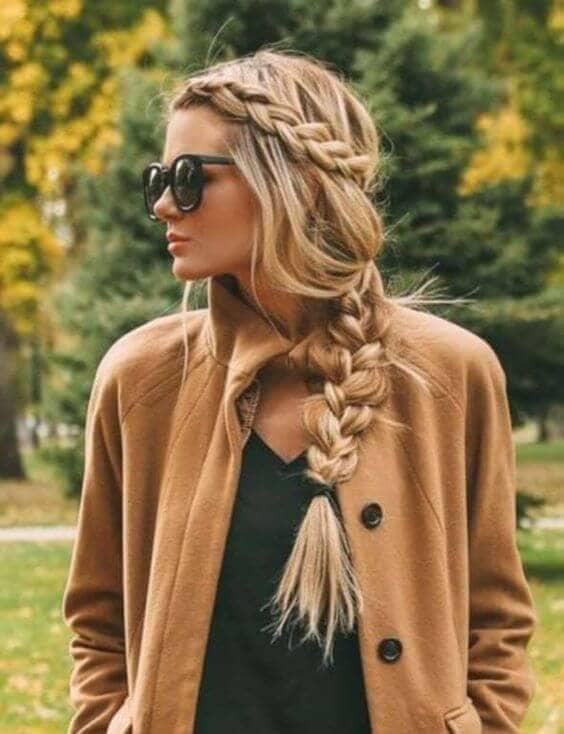 Slacken side braid for a unique look