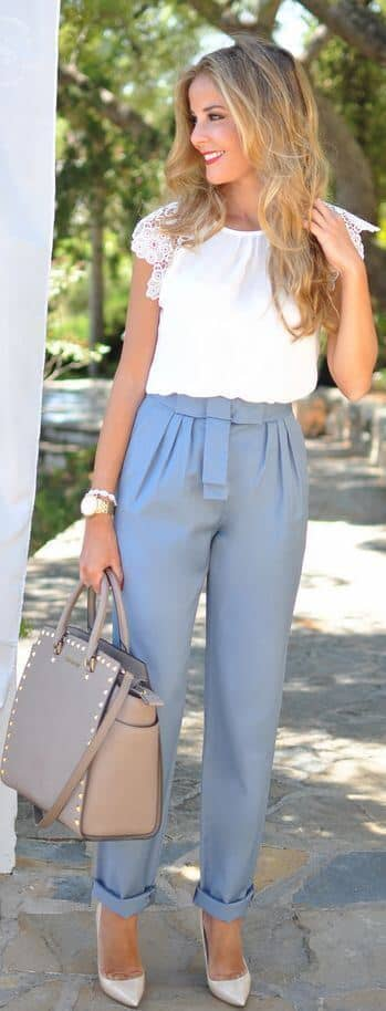 a924d562bedc 29 Pretty Trousers Inspirations For Summer