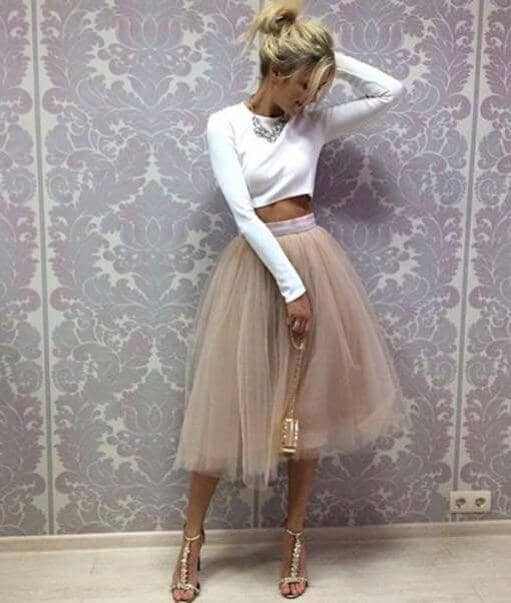 6a83a82b9 Source: facebook.com. The flowing tulle skirt looks ...