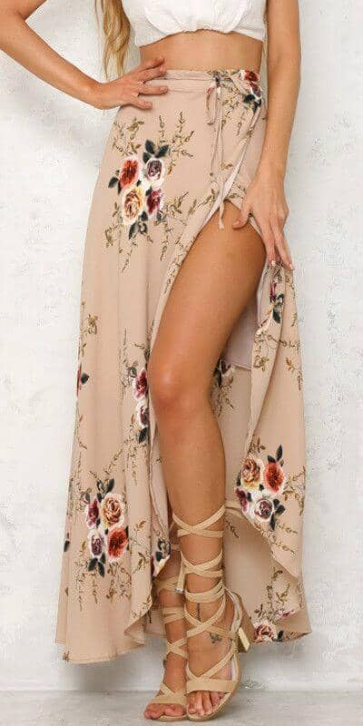 Floral Printed Long Skirt is Both Stylish and Playful