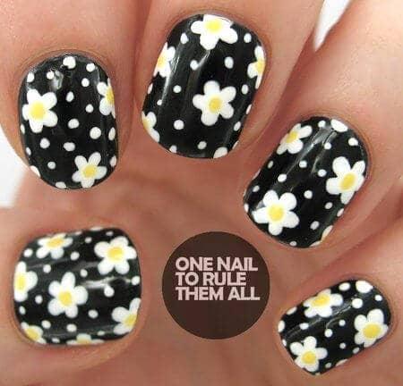 27 pretty flower nail inspirations