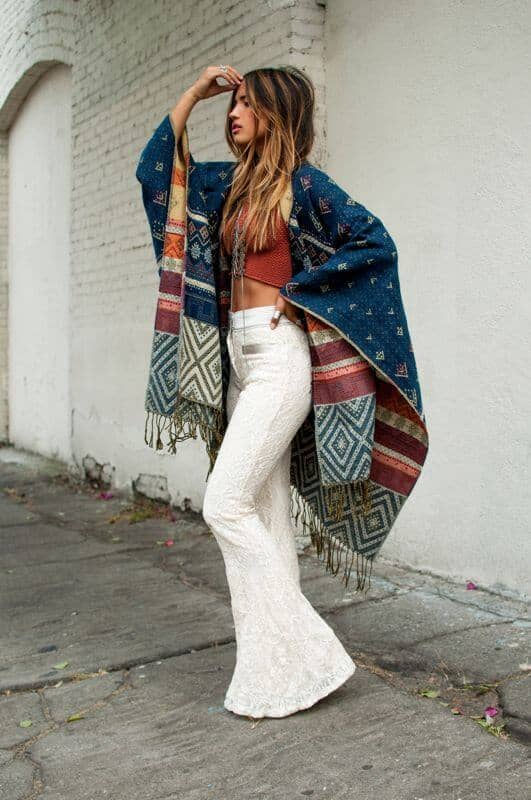 Lace Bells and Simple Crop Top with Wrap