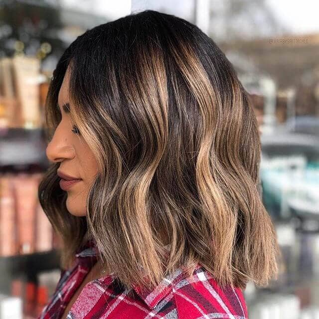 Blunt Lob Haircut Style for Thick Hair