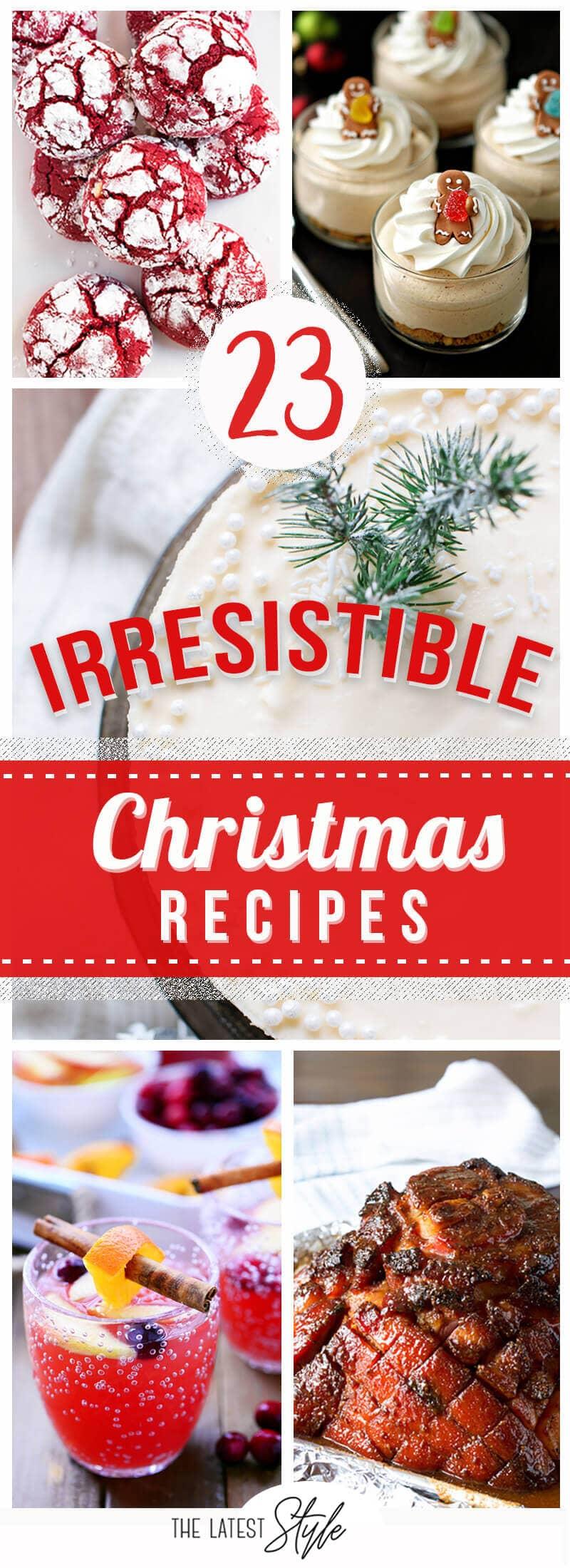 23 Christmas Recipes so Delicious Santa's Checking them Twice