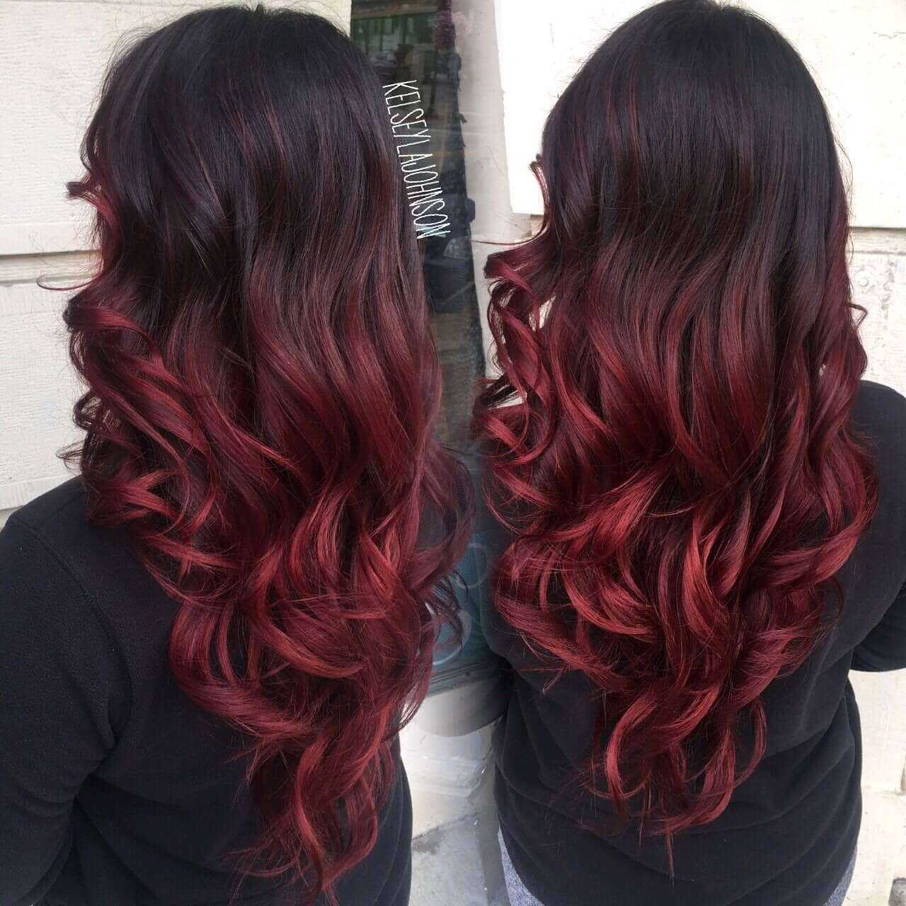 Ombre hairstyles red best hair style 2017 the 27 hottest red ombre hairstyles urmus Gallery