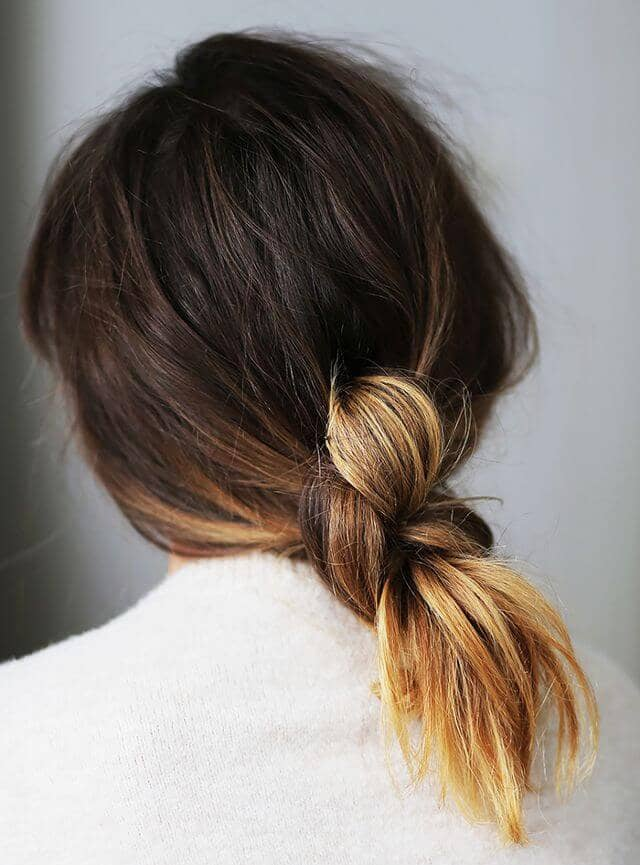 Fun and Free Loose Knot Ponytail