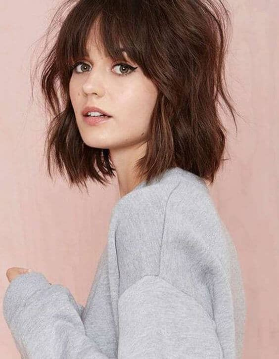 Blunt and Breezy Bangs Bedhead Look