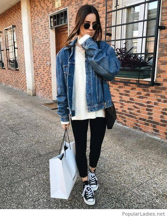 Another Take: The Oversized Denim Jacket