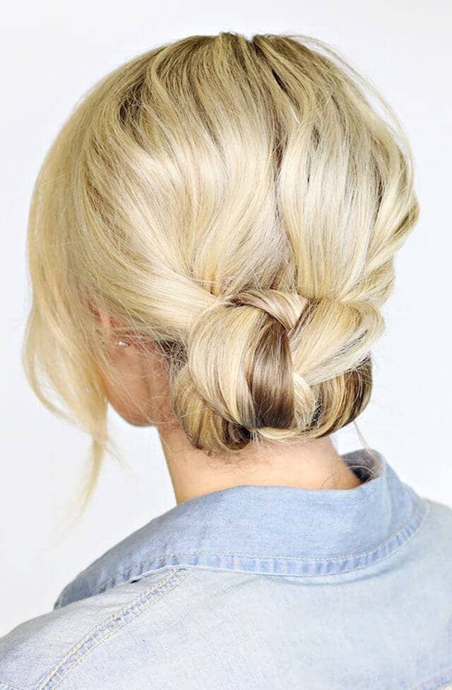 Elegant updo for day or night