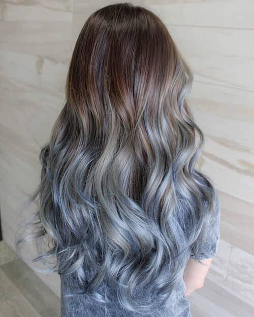 Earth To Ice Blue Ombre Hairstyle
