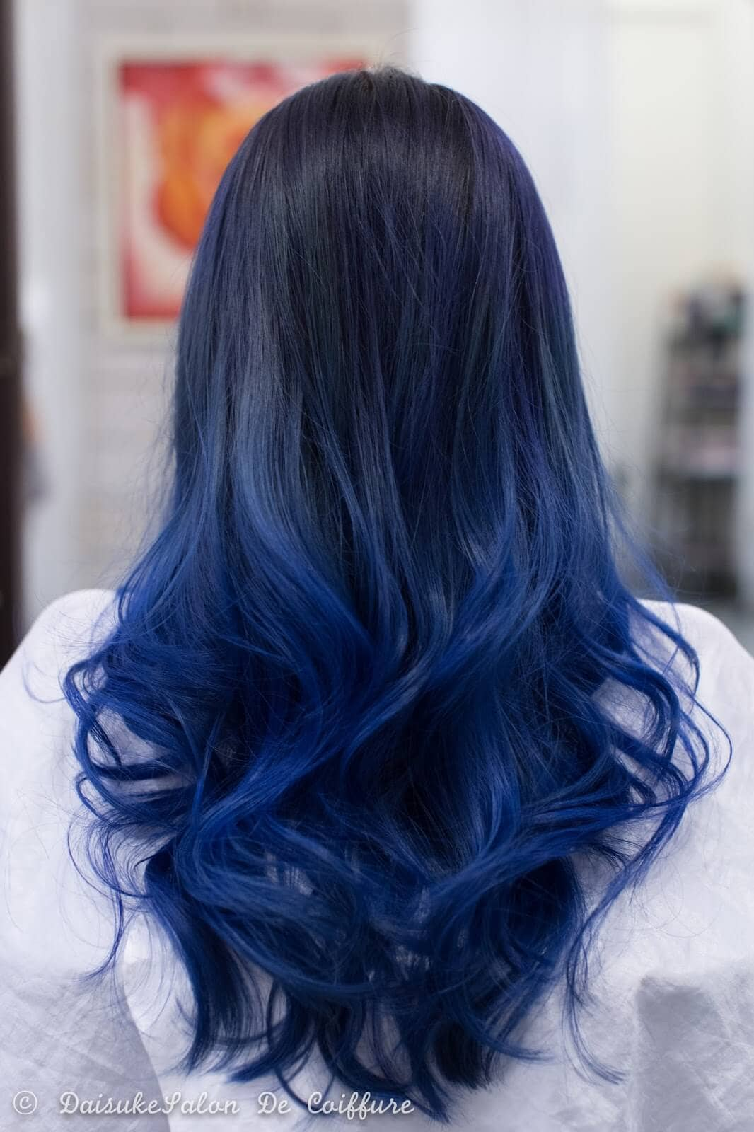 Black And Blue Ombre Hairstyle